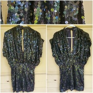 Vintage Sequins Open front & back tunic